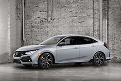 2017 Honda Civic Hatchback in Silver - Front Angle