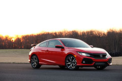 2017 Honda Civic Si Coupe in Red - Front