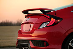 2017 Honda Civic Si Coupe in Red - Rear