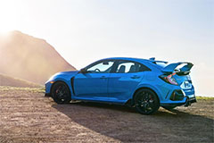 2020 Honda Civic Type R in Boost Blue - Side