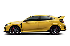 2021 Honda Civic Type R Limited Edition in Phoenix Yellow - Side