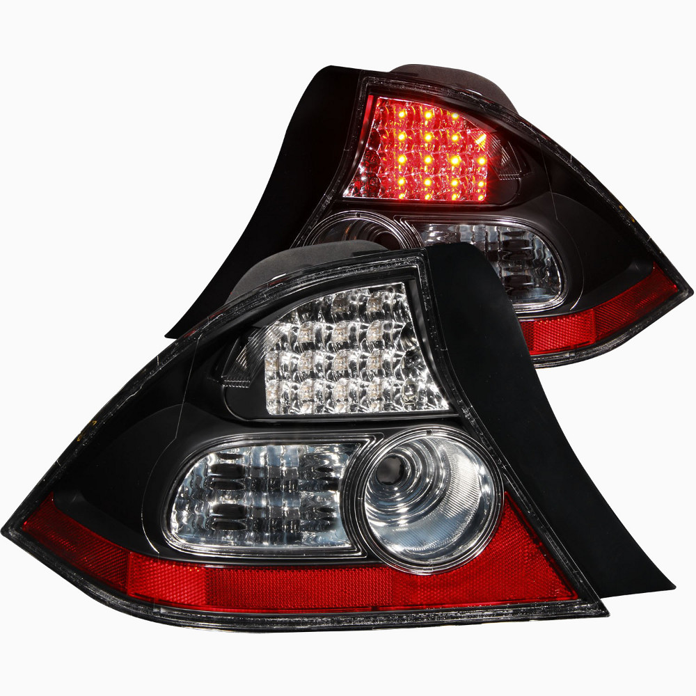 Cg Black Led Tail Lights For 2004 Honda Civic