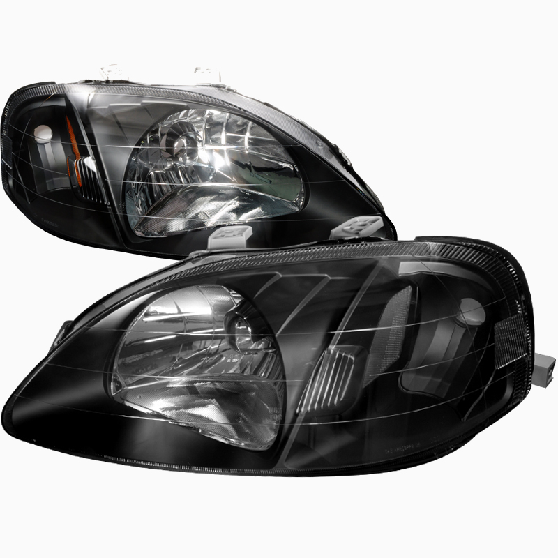 pro design black headlights for 1999 honda civic. Black Bedroom Furniture Sets. Home Design Ideas