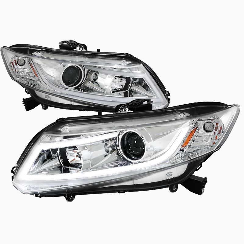 pro design clear headlights for 2014 honda civic. Black Bedroom Furniture Sets. Home Design Ideas