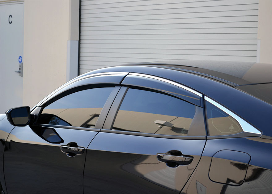 Pro Design Side Window Visors Deflectors For 2017 Honda