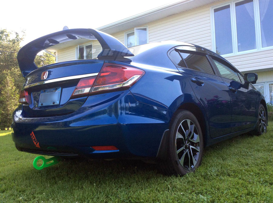 Trm Spoiler Installed Blue Civic