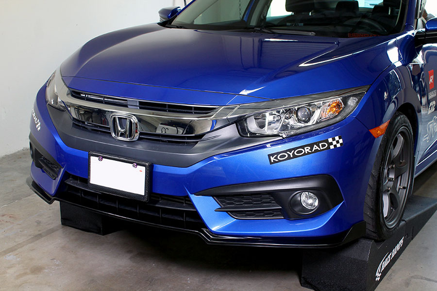 pro design track style front lip   honda civic  door sedan ext