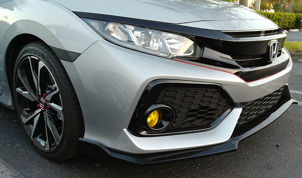 Pro Design Track Style Front Lip For 2018 Honda Civic 2