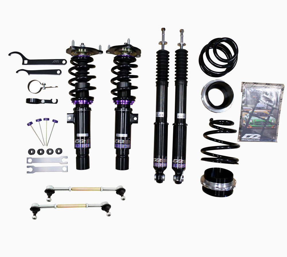 D2 Racing Rs Full Coilovers For 2018 Honda Civic 4 Door Hatchback